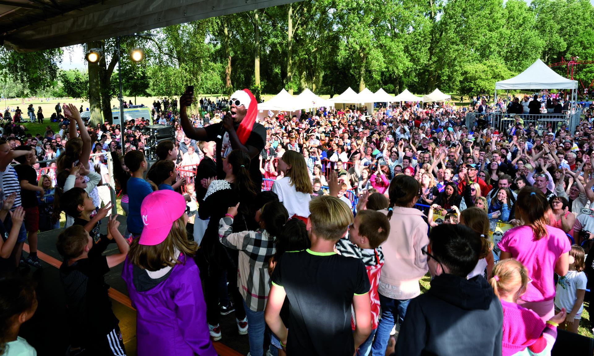 Le concert de la fête nationale au parc du Lion